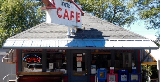 Frontal view of the Otis Cafe